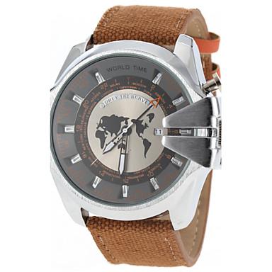 זול שעוני גברים-JUBAOLI בגדי ריקוד גברים שעונים צבאיים קווארץ שחור לוח שנה שעונים יום יומיים אנלוגי קסם אופנתי - חום אדום ירוק שנה אחת חיי סוללה / SSUO LR626