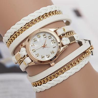 yoonheel Dames Armbandhorloge Modieus horloge Kwarts Hot Sale Leer Band Bohémien Zwart Wit Bruin