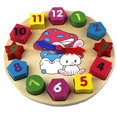 Ξύλινο παιχνίδι ρολογιών Ρολόι Εκπαίδευση Ξύλο Δώρο