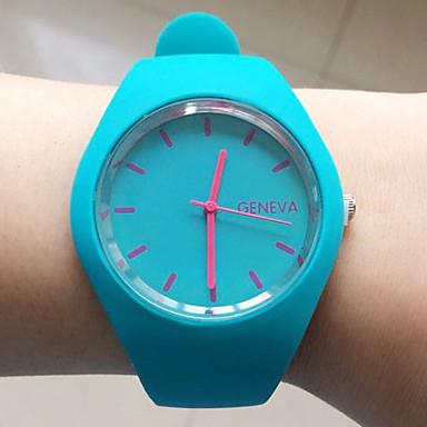 Mulheres Relógio de Moda Relógio de Pulso Relógio Elegante Relógio Casual Quartzo Silicone Banda Preta Branco Azul Vermelho Laranja