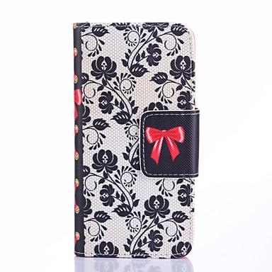 Para Samsung Galaxy Capinhas Porta-Cartão / Com Suporte / Flip / Estampada Capinha Corpo Inteiro Capinha Flor Couro PU Samsung S5