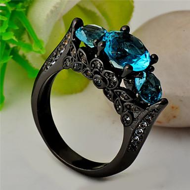 Dames Statementringen Modieus Synthetische Edelstenen Zirkonia Kubieke Zirkonia Gesimuleerde diamant Sieraden Voor Bruiloft Feest