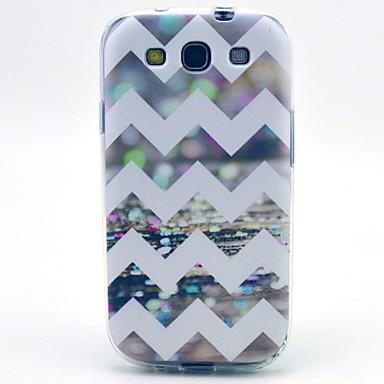 Voor Samsung Galaxy hoesje Patroon hoesje Achterkantje hoesje Lijnen / golven TPU Samsung S3