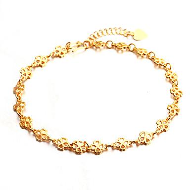 Four-leaf Clover Gold-plated Anklet