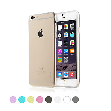 Capinha Para Apple iPhone 6 iPhone 6 Plus Transparente Capa traseira Côr Sólida Macia TPU para iPhone 6s Plus iPhone 6s iPhone 6 Plus