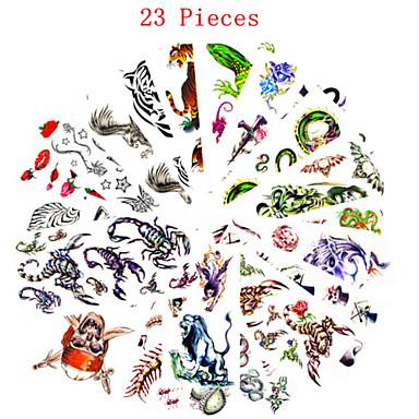 23 não tóxica Estampado Á Prova d'água Séries Animal Série Florida Outros Tatuagens Adesivas