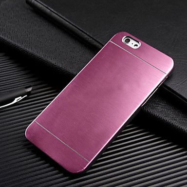 voordelige iPhone 5 hoesjes-hoesje Voor Apple iPhone 7 Plus / iPhone 7 / iPhone 6s Plus Ultradun Achterkant Effen Hard Metaal