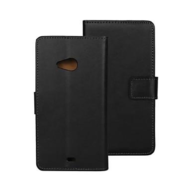 Para Capinha Nokia Case Tampa Capa de Corpo Inteiro Cases com Suporte Carteira Porta-Cartão Com Suporte Corpo Inteiro CapinhaCôr Sólida