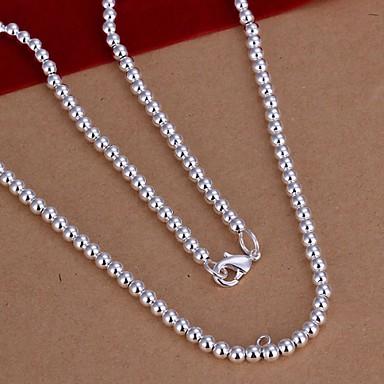 Kadın's Zincir Kolyeler - Som Gümüş minimalist tarzı Kolyeler Mücevher 1pc Uyumluluk Düğün, Parti, Günlük