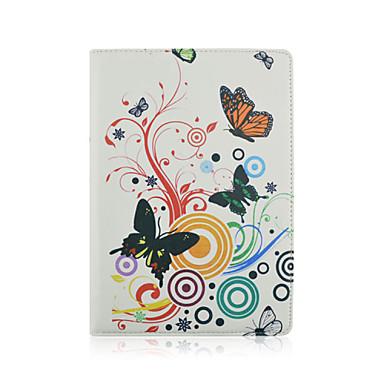 tok Για iPad Air 2 με βάση στήριξης Οριγκάμι Περιστροφή 360° Πλήρης Θήκη Λουλούδι PU δέρμα για iPad Air 2