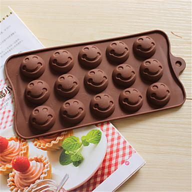 bakeware silicone sorriso rosto em forma de moldes de cozimento para o chocolate