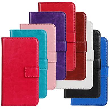 voordelige Galaxy S-serie hoesjes / covers-hoesje Voor Samsung Galaxy S5 Mini Portemonnee / Kaarthouder / met standaard Volledig hoesje Effen PU-nahka