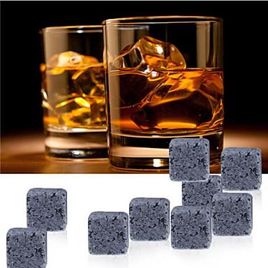 9 PC / πέτρες ουίσκι κύβους βράχο πάγου σαπουνόλιθος ποτό καταψύκτη