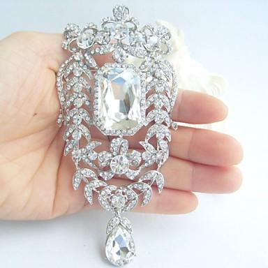 αξεσουάρ γάμου ασήμι-Ήχος σαφές rhinestone crystal νυφικό καρφίτσα γαμήλια διακόσμηση νυφική ανθοδέσμη κοσμήματα γάμου