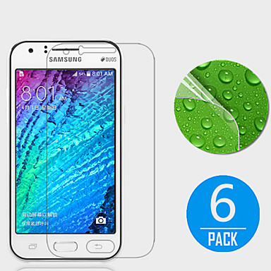 (6 stuks) high definition screen protector voor de Samsung Galaxy J1