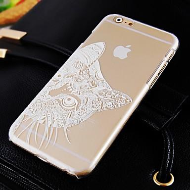 Voor iPhone 6 hoesje / iPhone 6 Plus hoesje Transparant / Patroon hoesje Achterkantje hoesje Kat Hard PCiPhone 6s Plus/6 Plus / iPhone
