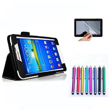 Voor Samsung Galaxy hoesje met standaard / Flip hoesje Volledige behuizing hoesje Effen kleur PU-leer Samsung Tab 4 7.0