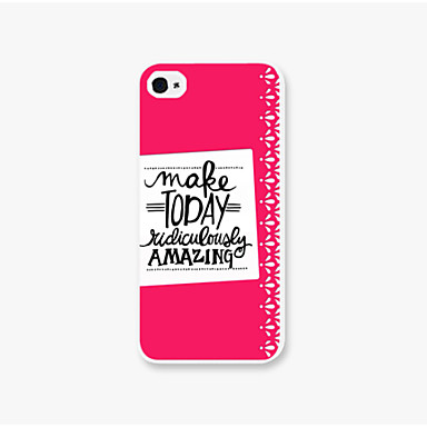 tok Για iPhone 5 Θήκη iPhone 5 Με σχέδια Πίσω Κάλυμμα Λέξη / Φράση Σκληρή PC για iPhone SE / 5s