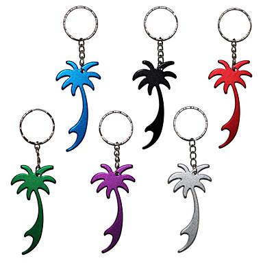 palmboom metalen flesopener sleutelhanger sleutelhanger sleutelhanger 1pc (willekeurige kleur)