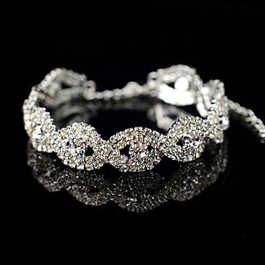 Heren Dames Armbanden met ketting en sluiting Bangles Zilveren armbanden Kristal Strass Legering Sieraden Voor Bruiloft Feest Dagelijks