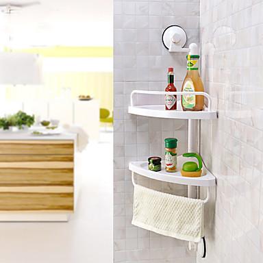 Ράφιι μπάνιου Υψηλή ποιότητα Σύγχρονο Πλαστική ύλη 1 τμχ - Ξενοδοχείο μπάνιο Επιτοίχιες