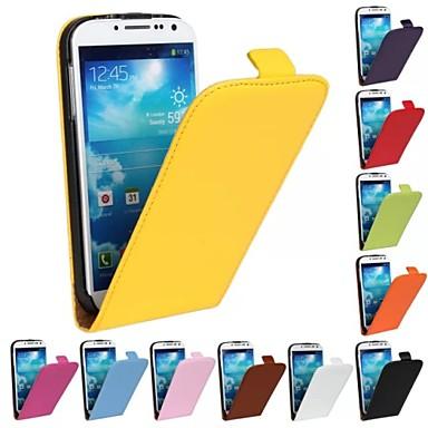 Capinha Para Samsung Galaxy Samsung Galaxy Capinhas Flip Capa Proteção Completa Sólido PU Leather para S4
