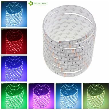 SENCART Faixas de Luzes LED Flexíveis 150 LEDs Branco Quente RGB Branco Verde Amarelo Azul Vermelho Controlo Remoto Cortável Regulável