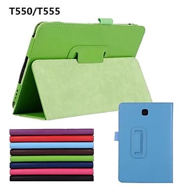 Capinha Para Samsung Galaxy Capa Proteção Completa Côr Sólida PU Leather para