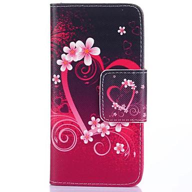 hoesje Voor LG LG hoesje Kaarthouder Portemonnee met standaard Flip Volledige behuizing Hart Hard PU-leer voor LG G4