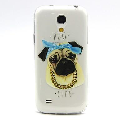 Para Samsung Galaxy Capinhas Transparente / Com Relevo Capinha Capa Traseira Capinha Cachorro TPU Samsung S4 Mini