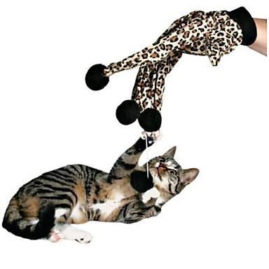 Kattenspeeltje Huisdierspeeltjes Interactief Speelhengels Elastisch Mat zwart Katoen Voor huisdieren
