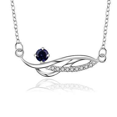 Férfi Női Rövid nyakláncok Nyaklánc medálok Függők Geometric Shape végtelenség Szintetikus drágakövek Ezüst Cirkonium Kocka cirkónia