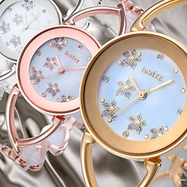Dames Kwarts Dress horloge Japans Vrijetijdshorloge Legering Band Bloem Elegant Bangle Zilver Goud Goud Rose