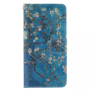 Para Samsung Galaxy Capinhas Carteira / Porta-Cartão / Com Suporte / Flip Capinha Corpo Inteiro Capinha Árvore Couro PU Samsung S6