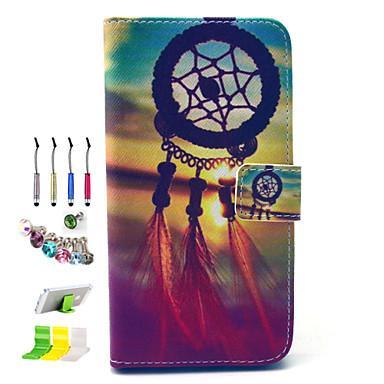 Para Porta-Cartão / Carteira / Com Suporte / Flip / Estampada Capinha Corpo Inteiro Capinha Filtro dos Sonhos Rígida Couro PU SamsungS6