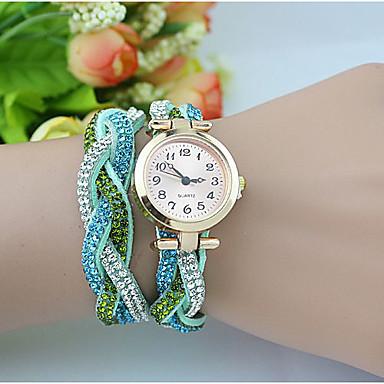 Dames Modieus horloge Polshorloge Armbandhorloge Kwarts imitatie Diamond Legering Band Parels Blauw Groen