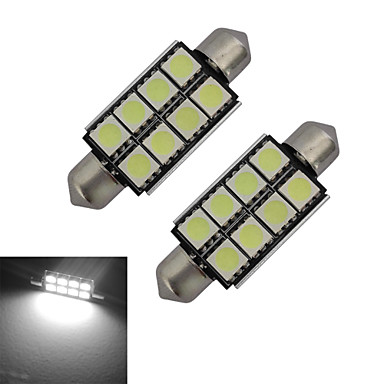 festoon decoratie licht 8 smd 5050 150-170lm koud wit 6000-6500k dc 12v