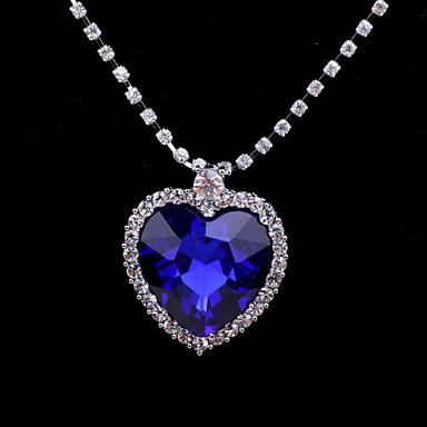 Γυναικεία Καρδιά Καρδιά Κρεμαστά Κολιέ Κρύσταλλο Στρας Κράμα Κρεμαστά Κολιέ Γάμου Πάρτι Ευχαριστώ Καθημερινά Causal Βαλεντίνος Κοστούμια
