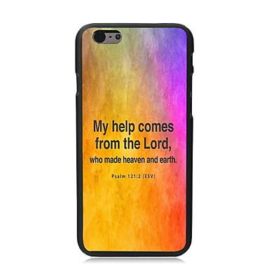 Voor iPhone 6 hoesje / iPhone 6 Plus hoesje Patroon hoesje Achterkantje hoesje Woord / tekst Hard TPU iPhone 6s Plus/6 Plus / iPhone 6s/6
