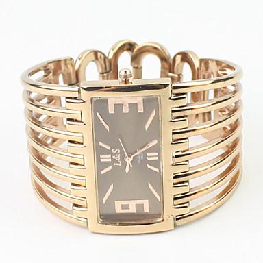 Dames Modieus horloge Armbandhorloge Kwarts Legering Band Bangle armband Elegante horloges Goud Rose