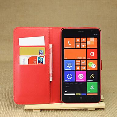hoesje Voor Nokia Lumia 1320 Nokia Nokia hoesje Kaarthouder Portemonnee met standaard Volledig hoesje Effen Kleur Hard PU-nahka voor