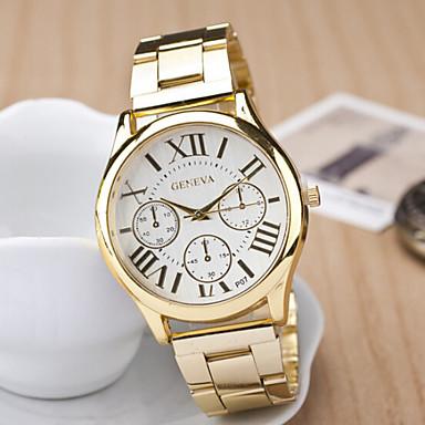 Γυναικεία Χαλαζίας Καθημερινό Ρολόι Ανοξείδωτο Ατσάλι Μπάντα Φυλαχτό Χρυσό