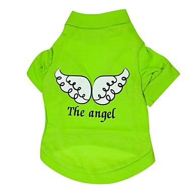 Gato Cachorro Camiseta Roupas para Cães Fantasias Anjo e Diabo Roxo Vermelho Verde Azul Ocasiões Especiais Para animais de estimação