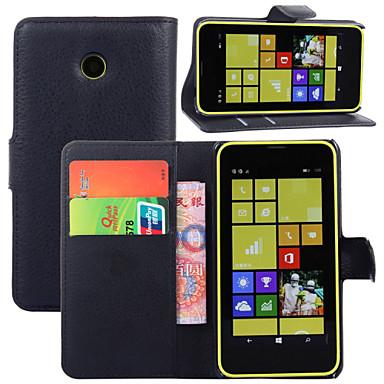 halpa Nokia kotelot / kuoret-Etui Käyttötarkoitus Nokia Lumia 925 / Nokia Lumia 630 / Nokia Nokia kotelo Lomapkko / Korttikotelo / Tuella Suojakuori Yhtenäinen Kova PU-nahka varten