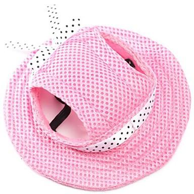 Gato / Cachorro Bandanas & Chapéus Roupas para Cães Sólido Rosa claro / Listra / Branco / Rosa Tecido Ocasiões Especiais Para animais de