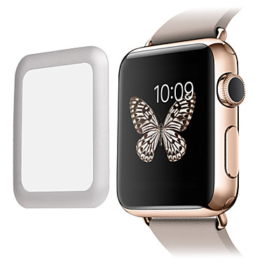 premium glas film 0.2mm echte gehard glas met volledige dekking metalen rand screen protector voor slimme horloge appel horloge