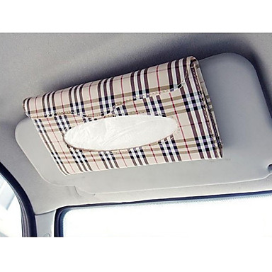 sol do carro viseira caixa de tecido auto acessórios titular guardanapo de papel Clipe- estojo de couro pu