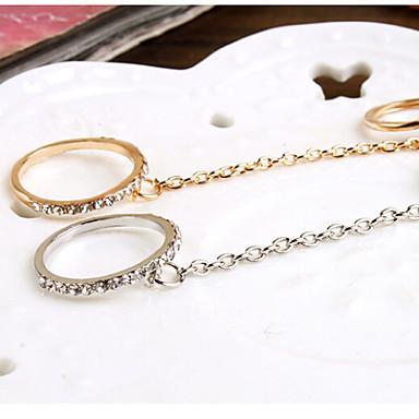 Κρίκοι Γάμου / Πάρτι Κοσμήματα Κράμα Γυναικεία Εντυπωσιακά Δαχτυλίδια 1pc,8 Χρυσαφί / Ασημί