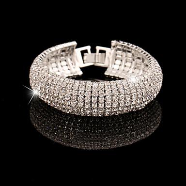 Dames Gesimuleerde diamant - Ketting Tennis I.D. Goud Zilver Armbanden Voor Bruiloft Feest Speciale gelegenheden  Vuosipäivä Verjaardag