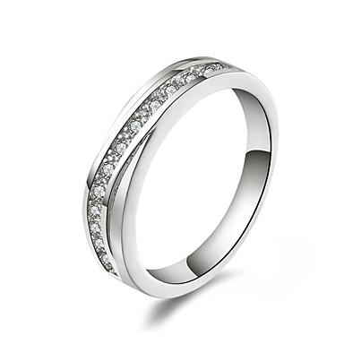 xu ™ anel de diamantes de prata 925 de prata